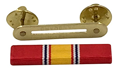 Official Ribbons for Medals-National Defense Service Ribbon & Ribbon Holder Bar