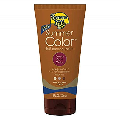 - Banana Boat Summer Color Sunless Self Tanning Lotion, 6 Fluid Ounces - Pack of 1