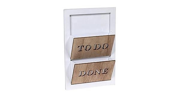 Porta cartas en madera para sujeción a pared con dos ...