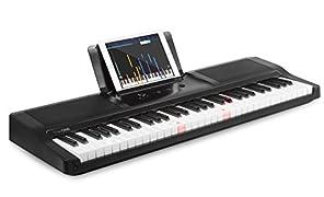 The ONE Light Keyboard 61-Key Portable Keyboard Digital Piano Electronic MIDI Keyboard - Onyx Black (TOK1B)