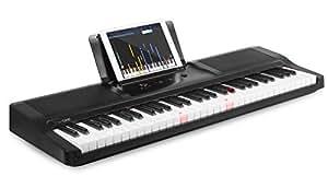 The ONE Smart Piano Keyboard, 61-Key Portable Keyboard, The ONE Light Keyboard, Electric MIDI Keyboard, Black