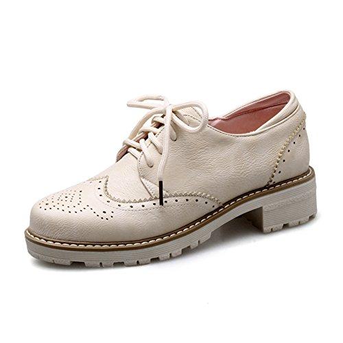 Viento británico estaba bajo zapatos con tacones gruesos/vintage tallado con zapatos profunda D