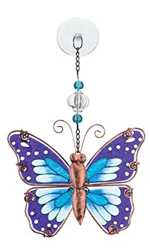 Hang Stained Glass Window (Regal Art & Gift Sun Catcher - Purple Butterfly)