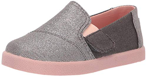 - TOMS Girls' Avalon Loafer Forged Iron Twill Glimmer 8 Medium US Toddler