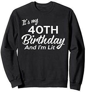 40th Birthday Gift Ideas For Him Men Women Husband Dad  Sweatshirt T-shirt | Size S - 5XL