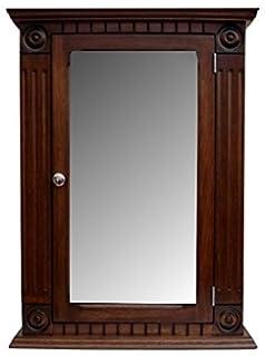 Rosette Dark Walnut Medicine Cabinet / Solid Wood U0026 Handmade / Surface Mount