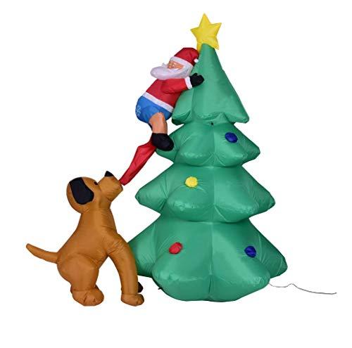 Modelo Inflable Autoinflable De Santa De Santa Mordedura De Navidad, Decoraciones Inflables Lindas De Navidad Con Decoración...