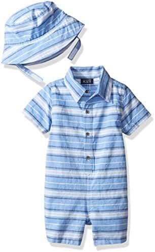 The Children's Place Baby-Boys' Li'l Guy's Striped Romper Set