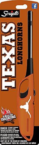 Longhorn Handles - NCAA Texas Longhorns Licensed Scripto Multipurpose Utility Lighter - Official White & Burnt Orange - Tailgating Essential (1-Pack)