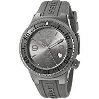 Swiss Legend ' Neptune' Swiss Quartz Stainless Steel and Silicone Casual Watch, Color:Grey (Model: 11044P-GM-018B-WC)