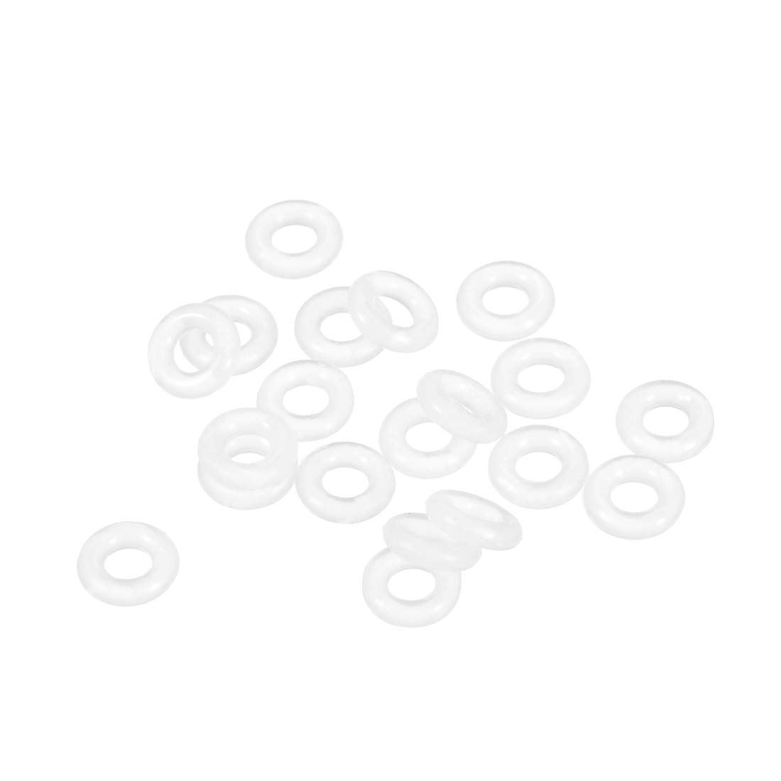 2mm Width Seal Gasket 20pcs 19mm Inner Diameter 23mm OD sourcing map Silicone O-Rings