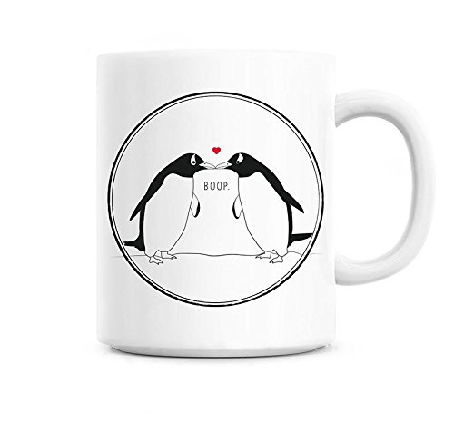 - Penguin mug, Penguin love mug, Cute anniversary gift, Anniversary coffee mug for her, Anniversary mug for boyfriend, Birthday gift for him 11oz