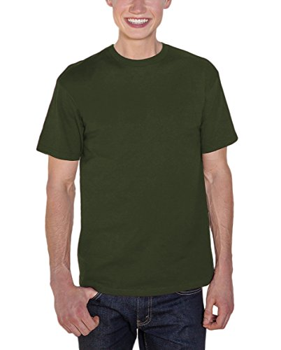 Alstyle Apparel AAA Men's Premium Super Soft Cotton Short Sleeve T-Shirt, Military Green, Small