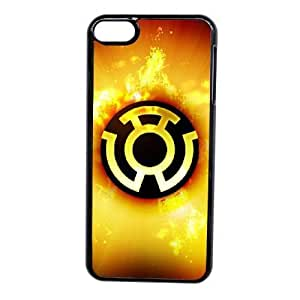 Grouden R Create and Design Phone Case, Cartoon-Green Lantern Sinestro Corps Logo Cell Phone Case for iPod touch 6 Black + Tempered Glass Screen Protector (Free) LPC-0648114