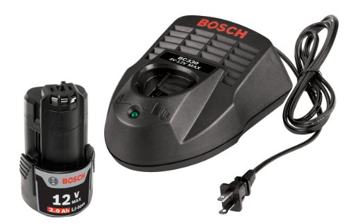 Bosch Power Tool Charger - Bosch SKC120-102 12-Volt Max Lithium-Ion Starter Kit with (1) 2.0 Ah Battery and Charger
