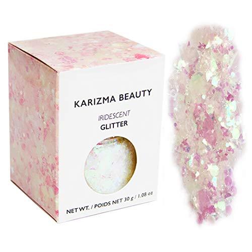 Iridescent Chunky Glitter Large 30g // Karizma Beauty // Cosmetic Glitter Face Body ()