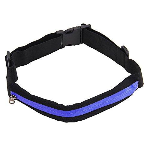 Foxpic Sport Tasche Hüfttasche Gürteltasche Bauchtasche mit Reißverschluss Multifunktion für Handy Blau