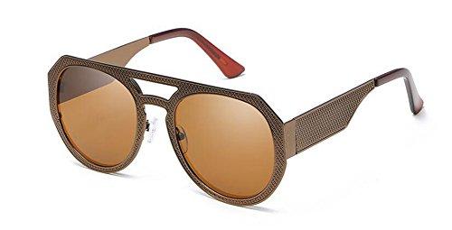 retro style Thé de Lennon lunettes en cercle rond soleil de métallique vintage inspirées polarisées Tranche du xfYUqgW