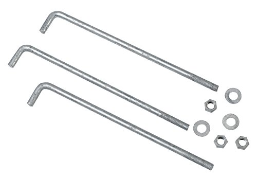 Mutual Industries 7701-0-12 Anchor Bolts, 1/2