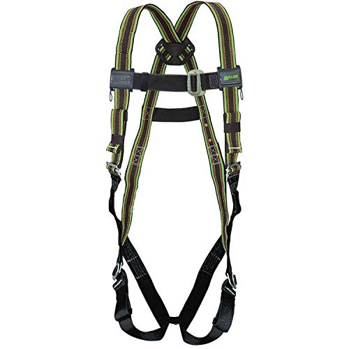 DuraFlex 650 Series Full-Body Stretchable Harness with Mating Buckle Legs Straps, Universal, Green, Lot of -