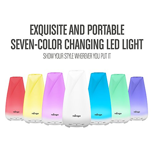 Essential Oil Diffuser 150ml by Natrogix Totem - Cool Mist Aroma Humidifier for Aromatherapy 7 Colors with Changing Colored LED Lights, Waterless Auto Shut-off and Adjustable Mist Mode w/ Free E-Book by Natrogix (Image #2)