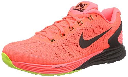 Nike Lunarglide 6, Herren Laufschuhe Mehrfarbig (Hot Lava/Black-volt 807)