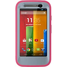 OtterBox DEFENDER SERIES for Moto G (1st Gen ONLY) - Retail Packaging - WILD ORCHID (POWDER GREY/BLAZE PINK)