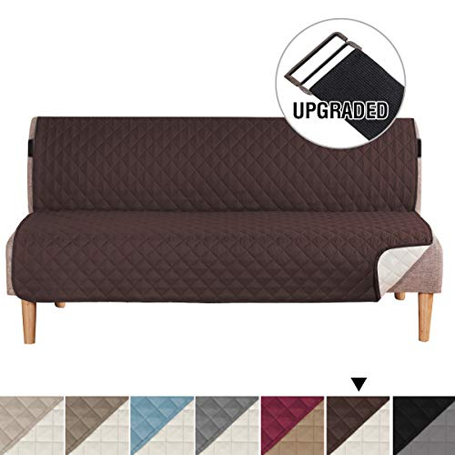 (H.VERSAILTEX Water Repellent Reversible Futon Cover, Seat Width Up to 70