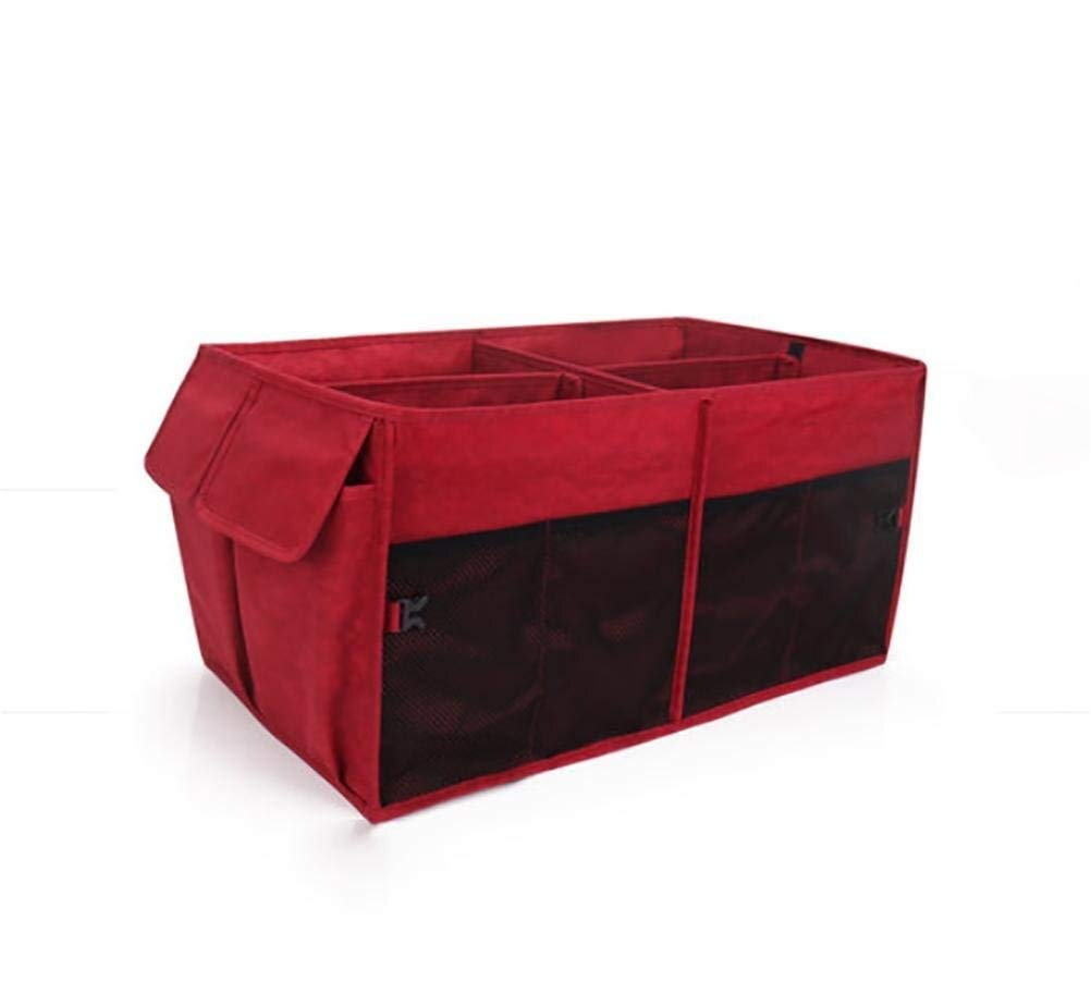 BAOYUANWANG Arge Capacity Ideal for Storing Groceries, Folding Flat Storage for Easy Storage Keep The seat Clean (Color : Red)