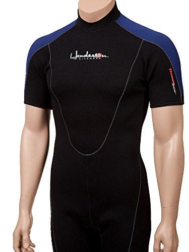 Henderson Thermoprene Men's 3mm Back Zipper Shorty Wetsuit, Black/Blue, -