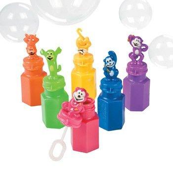 Neon Monkey Bubble Bottles - Party Favors & Bubbles