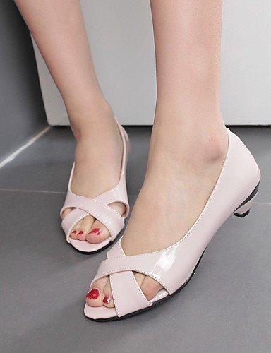 Bianco Tacchi 9 Shangyi Casual Nero Spillo Vestito Rosa All'aperto Da A Blu 3 Toe Con Sandali Donna Peep Scarpe nfxawtqTEB