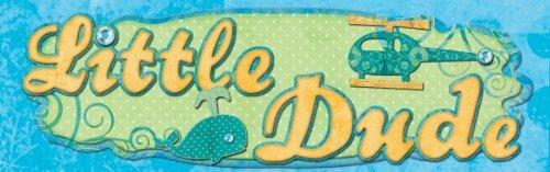 Boho Baby Boy Flocked & Gems Layered Title Sticker 8