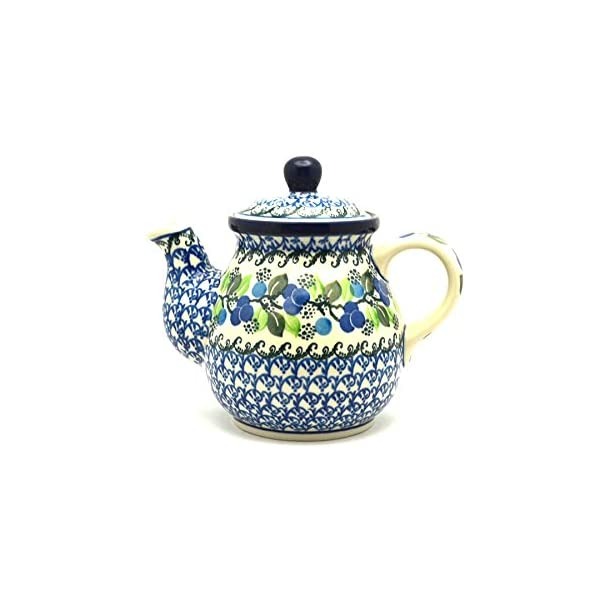 Polish Pottery Teapot – 20 Oz. – Blue Berries
