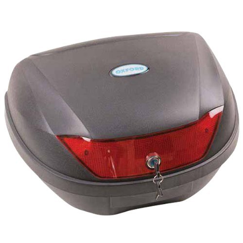 Oxford OL200 Black 1st Time Motorcycle Hard Luggage Top Box - 24 L/6.3 gallon