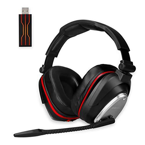 🥇 Auricularesn Gaming inalámbricos Gaming con Bass 7.1 Surround y Orejeras de Metal Auriculares con microfono para PS4