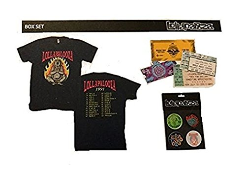 Palooza Commemorative 1991 Lollapalooza Box Set Buddha T-Shirt 4 Pins+Tickets Large