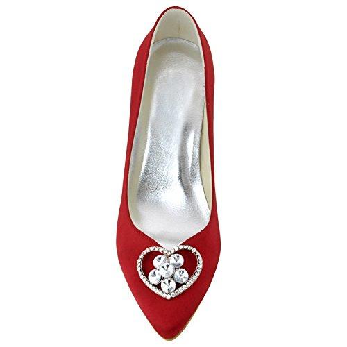 Minitoo , Escarpins pour femme - rouge - Red-7.5cm Heel,
