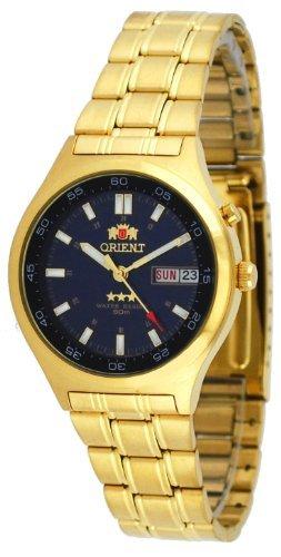 Orient #EM5U004D Men's Tri Star Gold Tone Sport 50M Automatic Watch