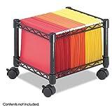 Safco 5220BL Mini Mobile Wire File Cart Steel Wire 15-1/2w x 14d x 12-1/2h Black