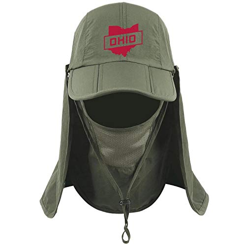 Ohio Retro Vintage State Travel Unisex Army Green Golf Fishing Peaked Hat for Mens Womens Quick-Drying Caps - Jenny Golf Socks