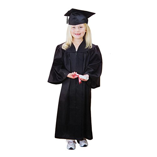US Toy OD304 Black Graduation Cap and Gown -