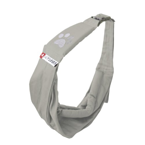 4-Lazy-Legs-Adjustable-Pet-Sling-Carrier-Carrier-for-Dog-Sand-Grey