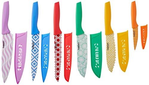 Cuisinart C55-12PR2 Advantage Color Collection 12-Piece Printed Color Cutlery Set, Multicolor