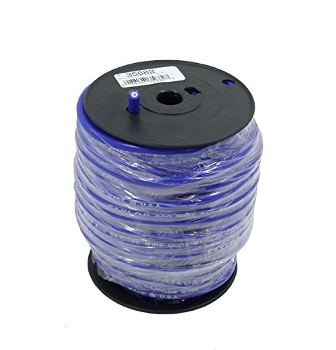 Taylor Cable 35682 8mm Pro TCW Plug Wire 100ft Blue