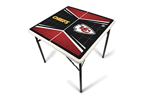 Kansas City Chiefs Wild Card - PROLINE NFL Kansas City Chiefs 2.5' x 2.5' Folding Plastic Tailgate Table
