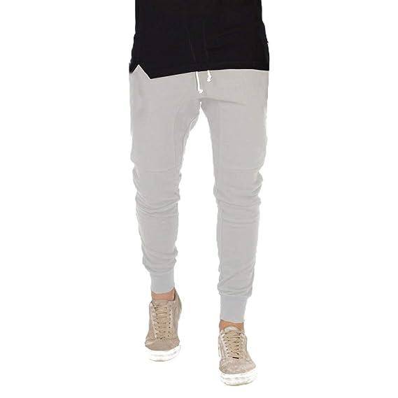 Hombre Cintura Media Pantalones Largos - Moda Pantalón de Chándal ...