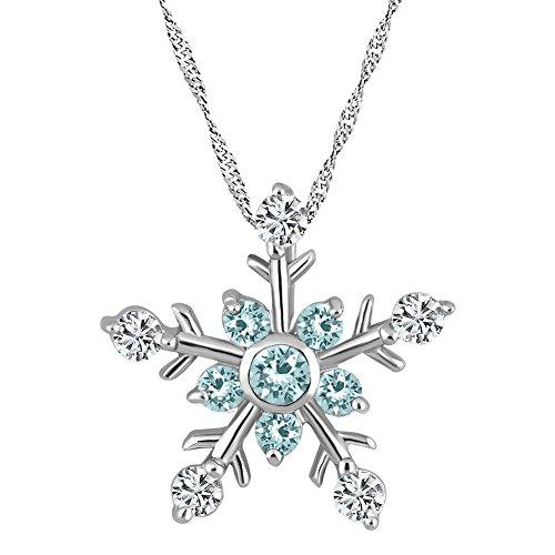 DemiJewelry Sterling Silver Blue & White Frozen Snowflake