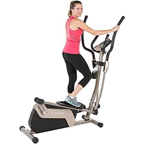 Exerpeutic 5000 Magnetic Elliptical Trainer with Double Transmission Drive/Bluetooth Technology/Mobile Application - Home Elliptical Trainer
