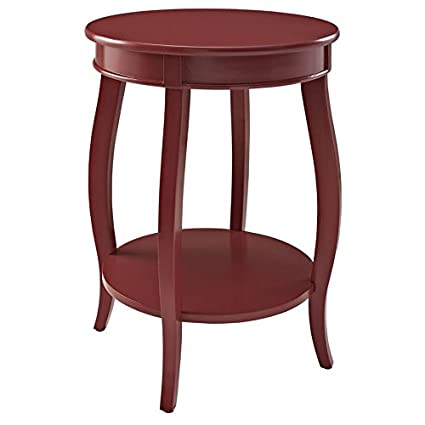 Genial Powell Seaside Red Round Table With Shelf